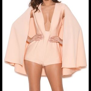 House of CB Cape Playsuit